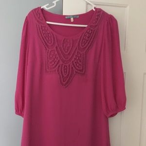 Long sleeve pink dress only worn once
